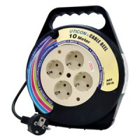 [UTICON] CR2810 Cable Reel 10-m 4-outlet with Arde / Kabel Roll 10-m 4-lubang dengan Arde