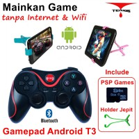 Gamepad +Holder Jepit+ 8g PSP game Android bluetooth smartphone VR Box wireless TV Box Terios T3