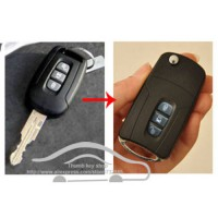 [globalbuy] 3 Buttons Blank Modified Flip Folding Remote Key Shell For Chevrolet Captiva F/2048252