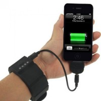 Universal Wrist Band Gadget Charger with Built In Battery 1500mAh - P17040721
