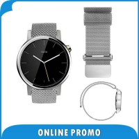 [globalbuy] 22mm Milanese Loop Band for Moto 360 2 46m Samsung Gear 2 R381 R382 R380 Stain/3201434