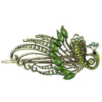 [poledit] Oyang So Beauty Lovely Vintage Jewelry Crystal Peacock Hair Clips - Beauty Tools/14264675