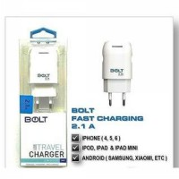 TRAVEL CHARGER BOLT REAL 2.1A KABEL 3IN1