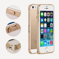 Remax Aluminum Metal Button Bumper Protector Case For iPhone 5 / 5S