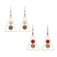 Anting Korea Triangle Ball 3 Warna