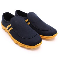 Dr.Kevin Mens Casual Shoes 13270 Black/Yellow