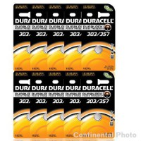 [poledit] Duracell (Great Scoops) 10 Duracell 357 303 A76 PX76 SR44W/SW LR44 AG13 Silver O/14676678