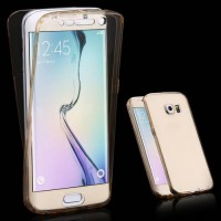 [globalbuy] for Samsung S6 Edge Crystal Slim 360 Degree Protective Gear Cover for Samsung /2819638