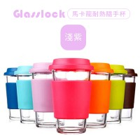 Glasslock Macaron heat readily Cup - light purple