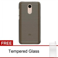 Case Ultra Thin Xiaomi Redmi Note 4 Soft Jelly (Grey) Free Tempered Glass