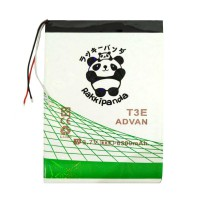 BATTERY BATERAI DOUBLE POWER DOUBLE IC RAKKIPANDA ADVAN TAB T3E KABEL 3 UNIVERSAL 6500mAh