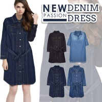 New Branded Women Dress - Premium Quality - 2 Model - Denim Dress - Pakaian Wanita