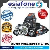 [esiafone top headlamp] BORUIT Aero-Grade T6 High Power LED Headlamp 3 X Cree XM-L T6 5000 Lumens