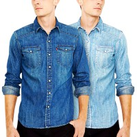 Denim Shirt | Kemeja Denim / Jeans Pria | 4 Sizes 2 Colors | Must Have