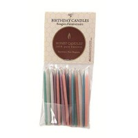 [poledit] Honey Candles 100 Pure Beeswax Birthday Candles (Pack of 20 Pastel Color, 3 Inch/14117139