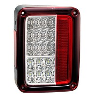 JEEP WRANGLER/RUBICON TAIL LIGHT LED US DOMESTIC MODEL.....RED CLEAR..