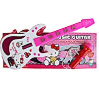 Music Guitar Plus Mic Hello Kitty - Mainan gitar microphone Ages 3+