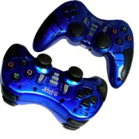M-Tech Gamepad Wireless Turbo - Single - Biru