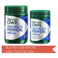 Nature's Own Odourless Fish Oil 1000 mg - 600 capsules