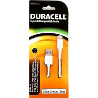 [poledit] Duracell White Apple Iphone 5/5c/5s Charge & Sync Data Cable (MFI Certified) - D/12404394