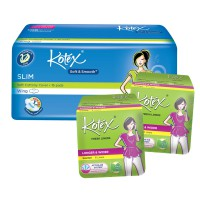 [32pcs] 1 Pax Kotex Fresh & Soft Pembalut Slim Wing, 2 Pack Liners Daun Sirih