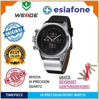 WEIDE Men Sport Watch with Japan Miyota 2035 Quartz Movement - Jam Tangan Pria Original