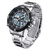 WEIDE Men Sport Watch with Analog & Digital Dual Time LCD Backlight (SEIKO Battery, MIYOTA Quartz)