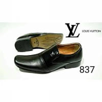 PROMO ! SEPATU PESTA KULIT PANTOPEL LOUIS VUIITON LEATHER