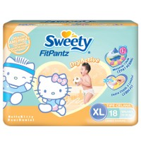 Sweety Fit Pantz Hello Kitty XL 18 (Dry Active) - DKI ONLY