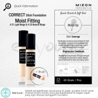 MIZON Correct Stick Foundation in 2 Shades