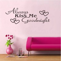 [globalbuy] Kiss Me Goodnight Home Lovely Wall Decals Quote Decorations Living Room Sticke/3587663
