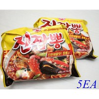 [poledit] Korea Food Ottogi Jin Jjambbong Ramen 4+1ea Spicy Taste Delicious Noodles Easy M/13870640