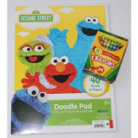 [holiczone] Bendon Publishing International Sesame Street Doodle Pad with Crayola Crayons/1846467