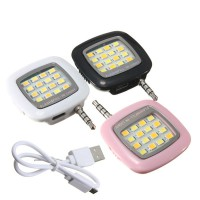Lampu Selfie LED | 3.5mm Jack Plug External Camera Flash | Rechargeable + Charging Cable