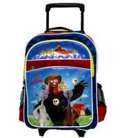 Trolley Bag Free Birds Large Blue-Red