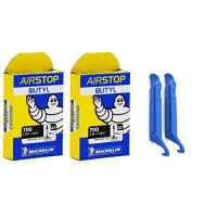 [worldbuyer] Michelin - Michelin Airstop PRESTA Valve 700 x 18/25c 40mm Bicycle Tube (2 TU/15341