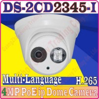 [globalbuy] New model 4MP DS-2CD2345-I multi-language H.265 h265 IPC IP POE Outdoor dome c/3585043