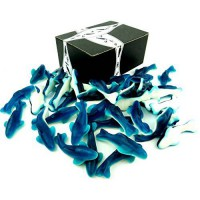 [poledit] Black Tie Mercantile Gummy Blue Sharks by Cuckoo Luckoo Confections, 2 lb Bag in/13654366