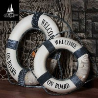 [globalbuy] AIBEI-35cm Fishing Nets Cloth Lifebuoy 1PC Mediterranean Style Swim Ring Acces/3584645