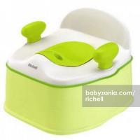 Richell Pottis Step and Potty - Green