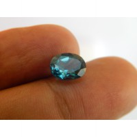 T6762 Batu Permata Natural Blue Topaz London Cutting Oval