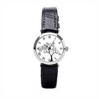 [poledit] Just Do Cardinal Red Bird In Snowy Winter Tree Inch Leather Watch Leather Watch /13881363