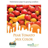 1 Pack Biji Tanaman TOMAT PEAR Mix Color Yellow & Red Maica Leaf
