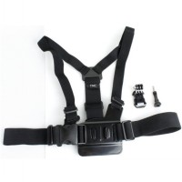 TMC Chest Harness Belt Strap with J-Hook Mount Set for GoPro & Xiaomi Yi - EBL023 - Black