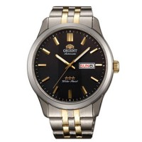 Orient Black Dial FEM7P00CB9 Two-Toon Stainless Steel For Men