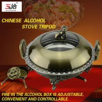 [globalbuy] Outdoor Camping Hotel Mini-pot Alcohol Stove Couple Small Pot Stainless steel /3582656