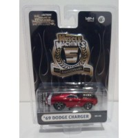 Maisto Muscle Machines 1/64 DODGE CHARGER 1969 Red