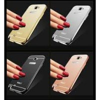 Aluminium Metal Bumper Slide Back Case with Mirror Cover Untuk Samsung Note 2 Note2 N7100