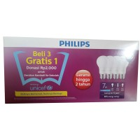 Paket Philips Lampu LED 7 Watt