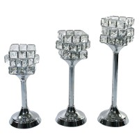 Ohome Tempat Lilin AN-CR032 Candle Holder Classic Kristal